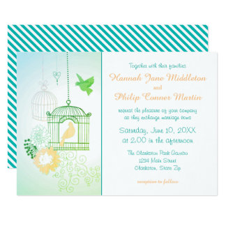 Doves & Cages - Wedding Invitation