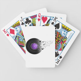 Doves Cry Record Bicycle Playing Cards