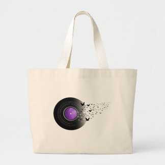 Doves Cry Record Large Tote Bag