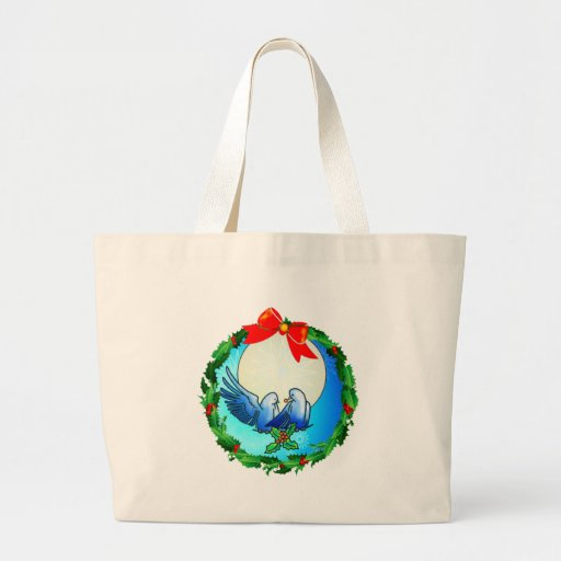 DOVES & HOLLY WREATH by SHARON SHARPE Bag