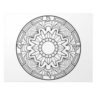 Doves Mandala Coloring Book Pad
