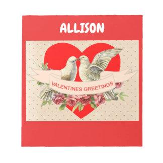 Doves Valentine Notepad