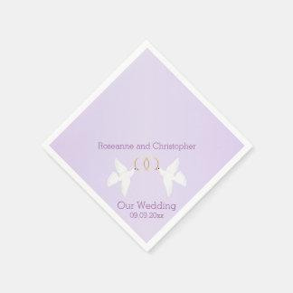 Doves Wedding Paper Napkin