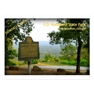 DOWDELL'S KNOB - F.D. Roosevelt State Park Postcard