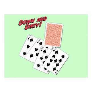 Down and Dirty - Poker Slang - Play To Win Postcard
