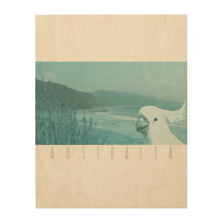 Down by the beach wood print