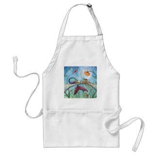 Down by the Pond Mermaid Art Standard Apron