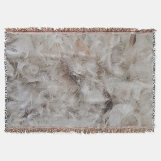 Down Comforter Bird Feathers Photography Elegant Throw Blanket