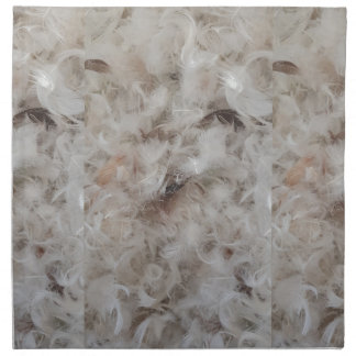 Down Comforter Feathers Photography Funny Napkin