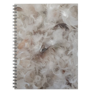 Down Comforter Feathers Photography Funny Notebooks