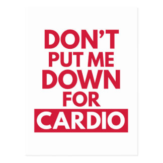 Down for Cardio Funny Gym Quote Postcard