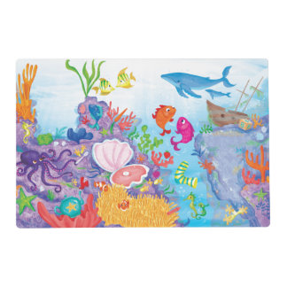 Down In The Ocean Laminated Placemat