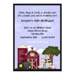 Down on the Farm Invitation 13 Cm X 18 Cm Invitation Card