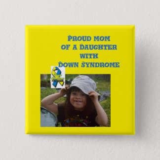 down syndrome awareness 15 cm square badge