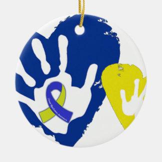 Down Syndrome Awareness Ceramic Ornament