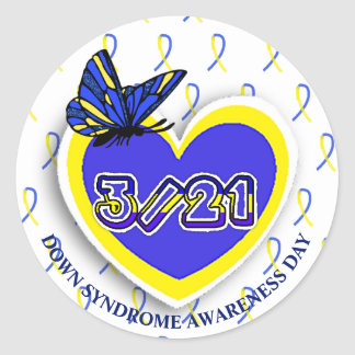 Down Syndrome Awareness Day Sticker March 21