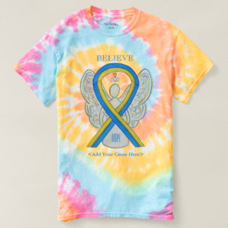 Down Syndrome Awareness Ribbon Angel Art T-Shirts