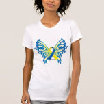 Down Syndrome Butterfly Ribbon T-shirts