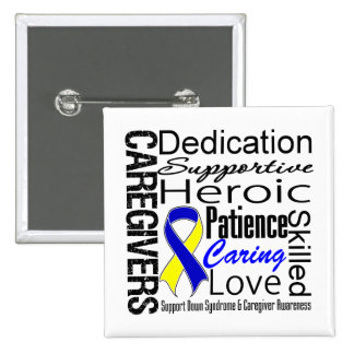 Down Syndrome Caregivers Collage Button