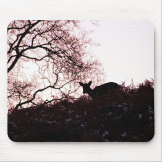 Down the hill (deer) mouse pad