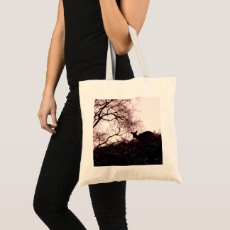 Down the hill (deer) tote bag