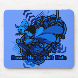 Down the Rabbit-Hole Mouse Pad