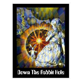 Down The Rabbit Hole Postcard