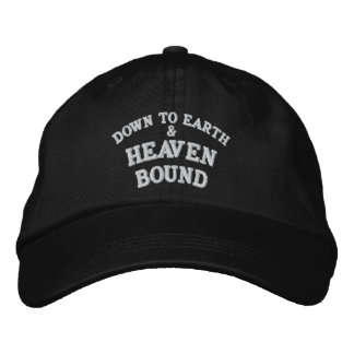 DOWN TO EARTH, &, HEAVEN, BOUND EMBROIDERED HAT