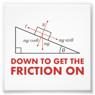 Down to Get the Friction On Physics Diagram Photo