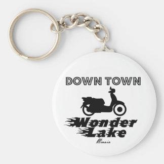"Down Town Wonder Lake 2.25"" Basic Button Keychain"