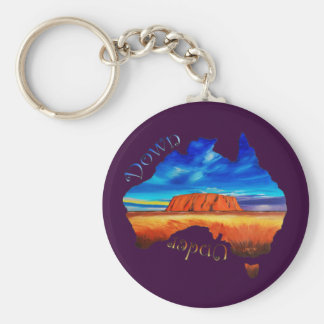 Down Under Keychain