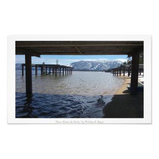 """Down Under the Docks,"" Lake Tahoe Nature Photographic Print"