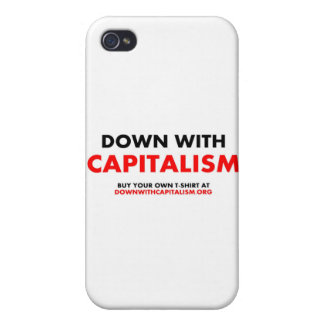 Down With Capitalism iPhone 4 Cases
