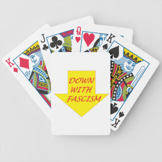 Down with Fascism Bicycle Playing Cards