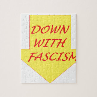 Down with Fascism Jigsaw Puzzle