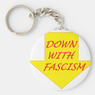 Down with Fascism Key Ring