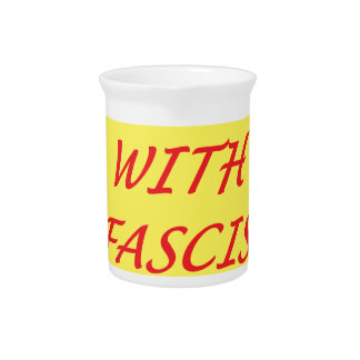Down with Fascism Pitcher