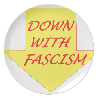 Down with Fascism Plate