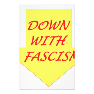 Down with Fascism Stationery