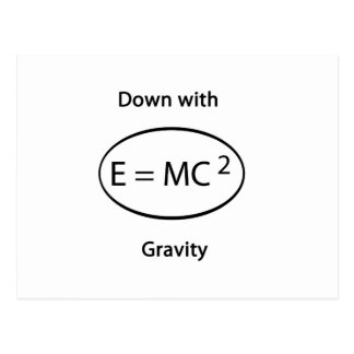 Down with gravity postcard