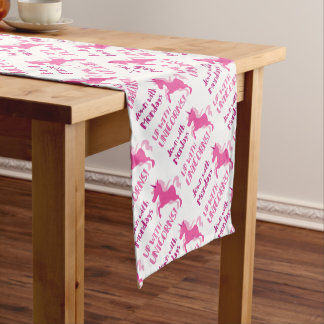 down with mondays up with unicorns short table runner