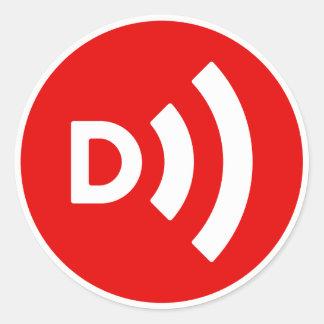 Downcast Classic Round Sticker