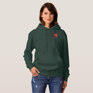 Downcast Logo and Downcast.fm Women's Hoodie