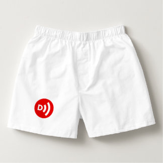 Downcast Logo Boxers in White