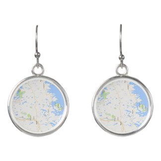 Downeast Maine Circle Drop Earrings