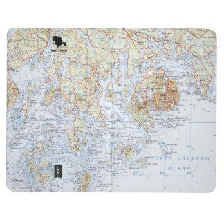 Downeast Maine Map Notebook Journals