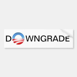 DOWNGRADE Bumper Sticker