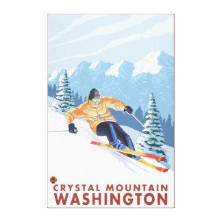 Downhhill Snow Skier - Crystal Mountain, WA Canvas Print