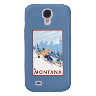 Downhhill Snow Skier - Montana Galaxy S4 Covers