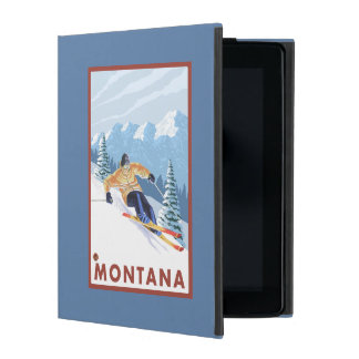Downhhill Snow Skier - Montana iPad Case
